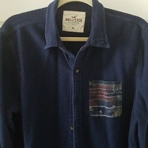 Navy flannel shirt by Hollister